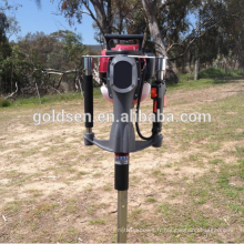 Radiateur à gaz à essence de 52 mm Mini garde-mains à main pour bateaux Clôture de conducteur Pile Pile Conducteur Machine à marteau Détecteur de vis à terre portable