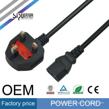 SIPU high quality UK 3 Pin 13amp Plug Power Cord for electric grill female power cord ends