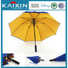 Customized Logo Fiber Glass Golf Umbrella with Double Layers