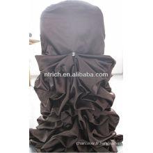 Utilisé pour la chaise de mariage feuillet couvercle, couverture de chaise satin froissé