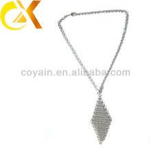Collar del encanto de las mujeres delicadas de la plata de la joyería del acero inoxidable del regalo