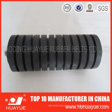 Banda transportadora de goma industrial que lleva el rodillo más barato de acero del impacto para los transportadores