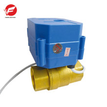 Motorized butterfly water shut off automatic ball valve