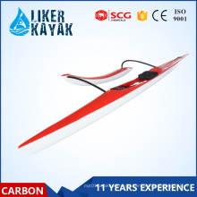 Single Seat Carbon Fiber / Glas Fiber Surfski Kajak Racing Outrigger Kanu mit Floater