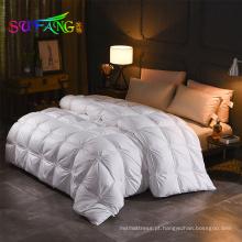 Super macio quatro estações dormindo cama ganso edredão