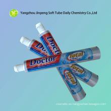 Aluminio y envases de plástico de tubo para pasta de dientes