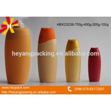 Différentes capacités de bouteille de shampooing pour cheveux HDPE