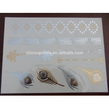 2016 neuer Entwurfsart und weisegoldsilber bunter Körper einmal Metalltätowierungaufkleberpapier