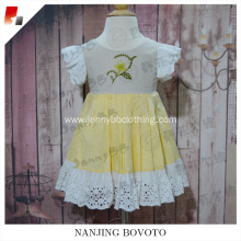 2017 JannyBB New design hand embroidered girl dress