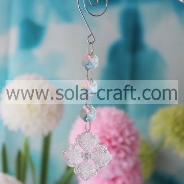 Search 15.5CM Clear Plastic Crystal  Octagon Square Flower Wedding Tree Beaded Dropping Idea