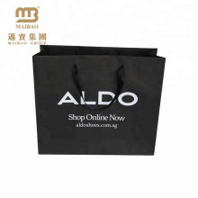 reasonable price factory supplier custom thickness new design black kraft paper shopping bags with handle