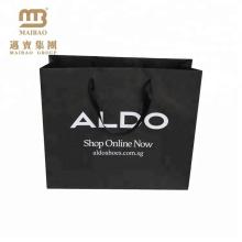 Preço razoável fábrica fornecedor personalizado espessura novo design preto sacos de compras de papel kraft com alça