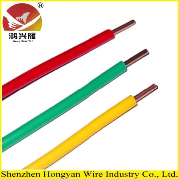 Single Core PVC Insulation Copper Electric Wire dan Cable
