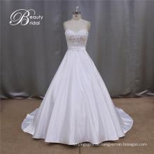 Brautkleid Kleid Satin Deckleisten 2016