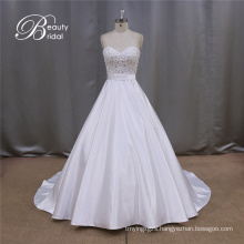 Bridal Dress Gown Satin Beadings 2016