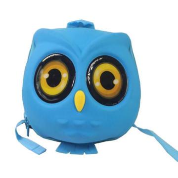 China Mini Bagpack Kids Rucksack 3D Owl Toddler Backpack Hard Shell Bag
