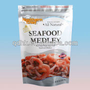 stand alone zipper bag package for frozen food