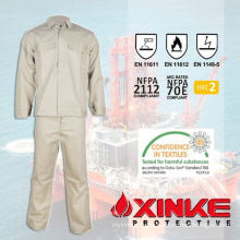 Flame resistant cotton uniform /garments/workwear/coverall for Oil&Gas industry