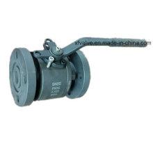 Válvula de bola con extremo de brida de diámetro reducido A105 de acero forjado DIN
