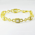 New Designs Diamond Jewellery 14k Gold Plated Bracelets.