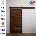 Mountain Modern Stain Glaze Clear Wood Barn Door