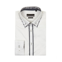 Men's Long Sleeve Fashion Double Collar Business Shirt