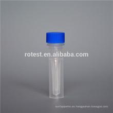 Tubo de Cryovial / Cryo de 0.5 ml de plástico con fondo autoestable