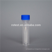 Tubo 0.5ml Cryovial / Cryo do plástico com parte inferior ereta