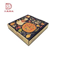 Nouveau design carré usine directe carton impression pizza boîte personnalisée