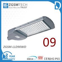 IP65 90W LED luz de rua com Driver Meanwell e garantia de 3 anos