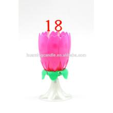 Vela de cumpleaños de la flor con la música / vela caliente del cumpleaños de la venta 2014