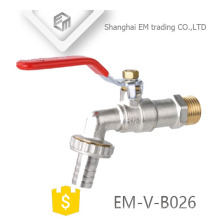 EM-V-B026 forged brass ball valve nickel plated water bibcock