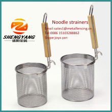 2014 fashion eco-friendly spaghetti baskets healthy bean milk sieves food grade stainless steel reinforced noodle strainers