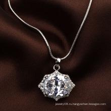 Итальянские ювелирные изделия bling bling cz привесное ожерелье большое zircon привесное ожерелье