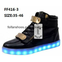 Men Latest Fashion MID-Cut LED Sport Shoes (FF416-3)