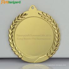 Médaille promotionnelle en métal avec le logo d'impression