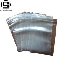 Sac en plastique ziplock de glissière de glisseur de pe clair pour la nourriture avec le type adhésif