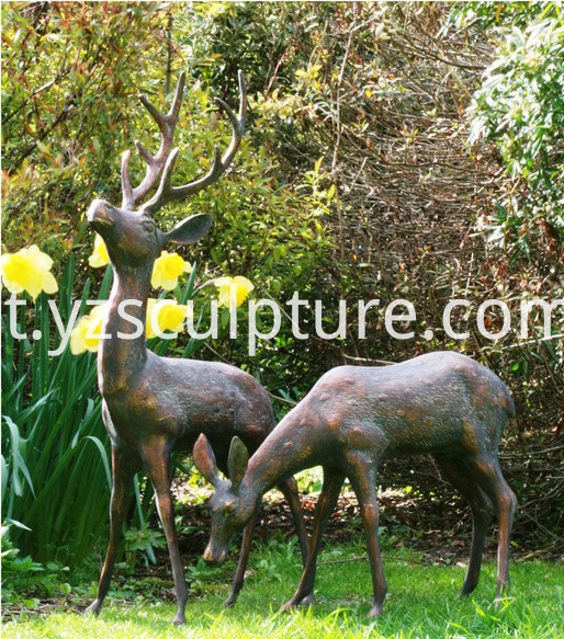 Life Size Deer Sculpture