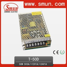 50W 5V3a 12V1a 24V1a Triple Output Switching Power Supply