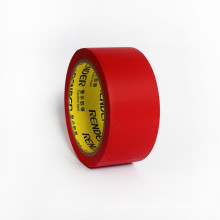 red,Easy tearing PVC & Embossed vinyl tape pvc wrapping tape 45mm*22m*0.15mm PVC packaging tape