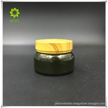 30g best selling luxury green boston round empty plastic jar cosmetic packaging