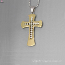 Factory price crystal cross pendant,crystal gold cross pendant,stainless steel pendants wholesale