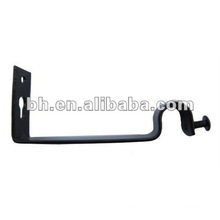 CB029 beautiful single iron curtain rod brackets/ holders/crutch/stand for curtain rod 25mm and windows & home decor
