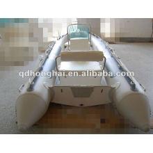 barco de casco de fibra de vidrio rígida HH-RIB470 con CE