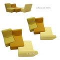 Tầng Lounge Couch Lazy Boy Confluences Sofa