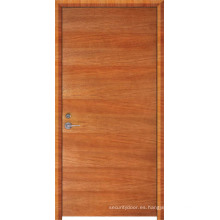 Puerta incombustible de madera