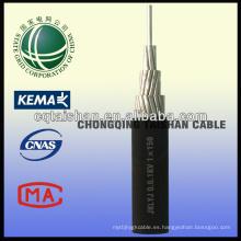 Grid del estado 1kv Aluminio Núcleo XLPE Aislado Antena Cable Empaquetado