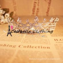 Cristal de lujo de oro tiara corona boda accesorios de pelo joyería de pelo nupcial