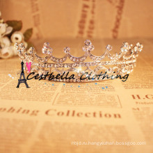 Роскошный Кристалл Золото Тиара Корона Свадебные Аксессуары Для Волос Ювелирные Изделия Свадебный Волосы