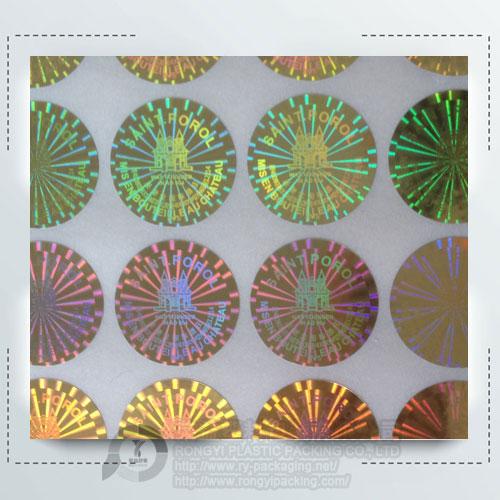 Custom Gold Holographic Label